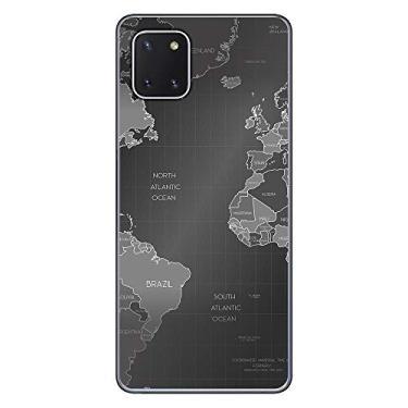 Capa Personalizada Samsung Galaxy Note 10 Lite - Mapa Mundi - MC01