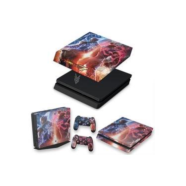 Capa Anti Poeira e Skin para PS4 Slim - Tekken 7
