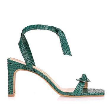 Sandália Salto Médio New Couro Sky Uza Shoes (36)