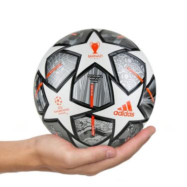 Mini Bola Futebol Adidas UCL Finale 21 GK3479, Cor: Cinza/Branco, Tamanho: 1