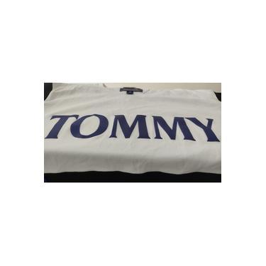 Camisa Preimum Malha penteada fio 30.1 Algodão PIMA Tommy Hilfiger detalhe emborrachado