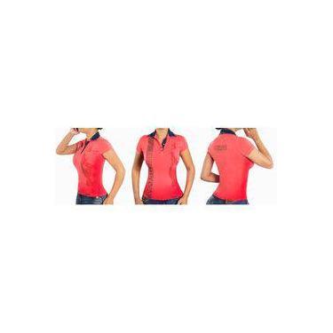 Camisa Pólo Coral Feminina Pit Bull Original 26438 949b5f37ddf
