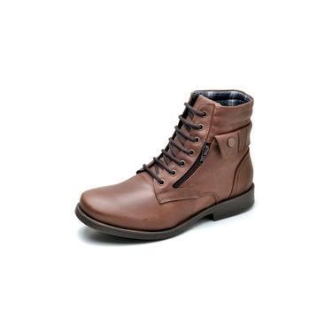 Coturno Boots Linha Rock Couro Fóssil Suflair 896 Café