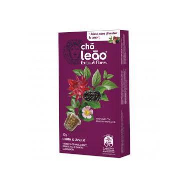 Chá Leão Cápsula Hibisco,Rosa Silvestre e Amora c/10 Unidades