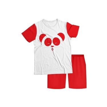Pijama Infantil Cleo e Cuquin Vermelho PJMC