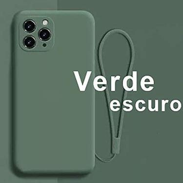 TwiHill a capa de silicone líquida de imitação é adequada para iPhone 7/8/SE2, iPhone 7Plus/8Plus, iPhone 6G, iPhon 6 Plus (iPhon 6 Plus,Verde escuro)