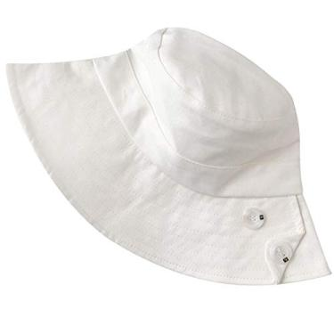 SOIMISS Chapéu de balde dobrável chapéu portátil chapéu à moda protetora protetor de sol simples estilo casual chapéu para fora (branco)