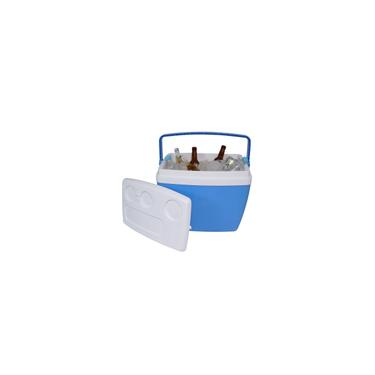 Imagem de Caixa Cooler Térmica Isopor 34 L Praia Pesca 50 Lata Cerveja Azul