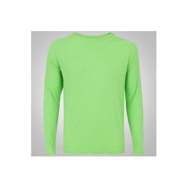 5b06370ef54ef Camiseta Manga Longa com Proteção Solar UV50 Oxer Custom - Masculina -  VERDE CLA PRATA