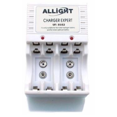 Imagem de Carregador para Pilhas AA/AAA e Bateria 9V Recarregáveis Bivolt - Branco
