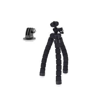 Imagem de Tripé Flexível Articulado Octopus Para Câmeras GoPro e Compactas Cor Preto