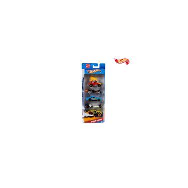 Imagem de Carrinho Hot Wheels Veículo Básico Kit 5 Unidades Brinquedo Miniatura Presente Menino Hotwheels