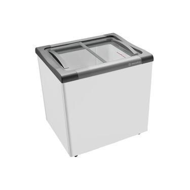 Freezer Horizontal Metalfrio NF20S Tampa de Vidro para Sorvetes e Congelados 180 Litros