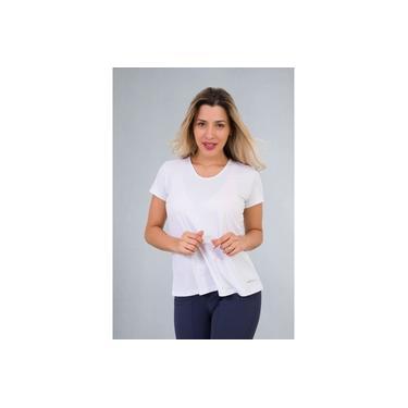 Camiseta Feminina Fitness Branca Classic