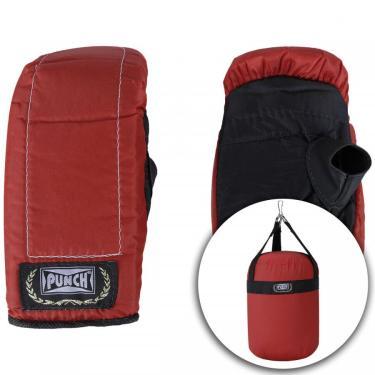 Kit de Boxe Punch com Saco de Pancada + Luvas de Bate-Saco - Infantil Punch Unissex