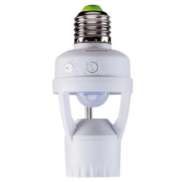 Imagem de Sensor de Presença Intelbras ESP-360S com Soquete E27 Fotocélula Branco