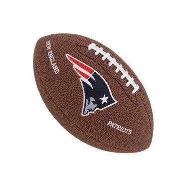 Bola De Futebol Americano Wilson Nfl New England Patriots 41ffa5408dbc8