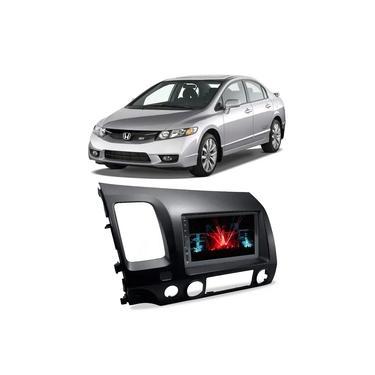 Central Multimídia Honda Civic 2007 a 2011 Espelhamento iOS Android 7 Polegadas BT USB