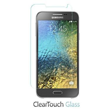 Película protetora de tela para Samsung Galaxy E5, BoxWave® [vidro ClearTouch] 9H com proteção de tela de vidro temperado para Samsung Galaxy E5