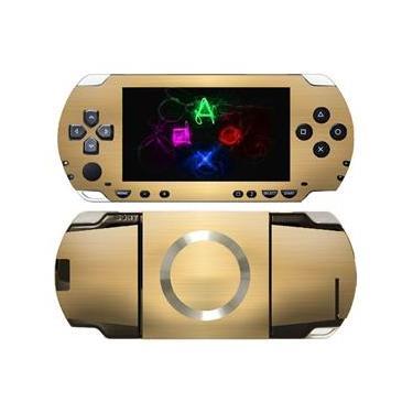 Kit Skin Adesivo Protetor PSP 1000 Fat (Dourado)