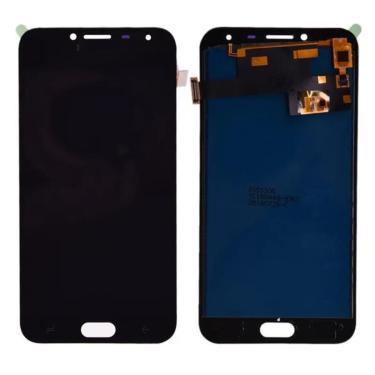 Frontal Touch E Display Para J4 J400 Com Brilho Cor Preta