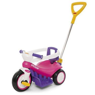 Imagem de Carrinho Triciclo Infantil Bebê Poliplac - De Passeio Ou Pedal Policic