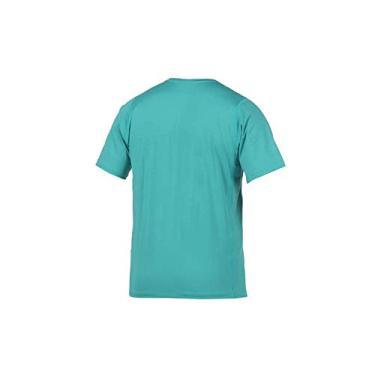 Camiseta Masc Proteção UV Body Fit Mormaii Manga Curta/Verde escuro/G