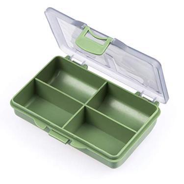 Nishore 4 caixa de equipamento de caixa de equipamento de pesca de compartimentos para acessórios de pesca