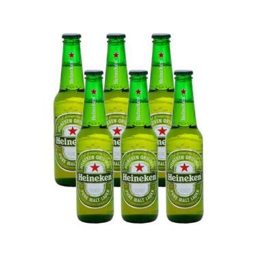 Cerveja Heineken Long Neck Pilsen 330ml - 6 Unidades