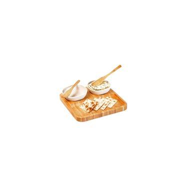 Imagem de Conjunto Petiscos E Patês Em Bambu Fibra De Bambu 5 Peças