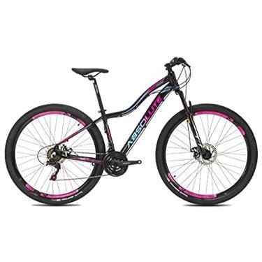 Imagem de Bicicleta aro 29 Absolute Hera Feminina 21V Shimano Tourney,17,Preto Rosa Azul