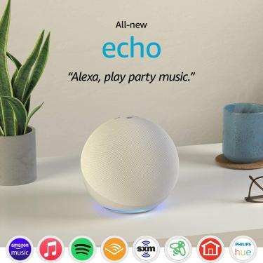 Imagem de Smart Speaker Amazon Echo 4ª Geração com Alexa Branco - Importado