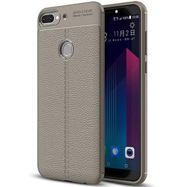 Capa HTC Desire 12 Plus, capa de couro sintético HTC Desire 12 Plus, capa macia de TPU antiderrapante para HTC Desire 12 Plus de 6,0 polegadas
