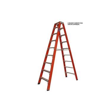 Escada Fibra Pintor 14 Degraus 4,35 m (Cogumelo)