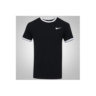 Camiseta Nike Court Dry Top Team - Masculina - PRETO BRANCO Nike ebd812940f186