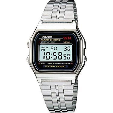 0e6cfe9b277 Relógio Feminino Digital Casio Vintage A159WA-N1DF - Prata