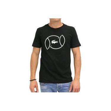 Camiseta Lacoste Tennis Training TH9468 Preta