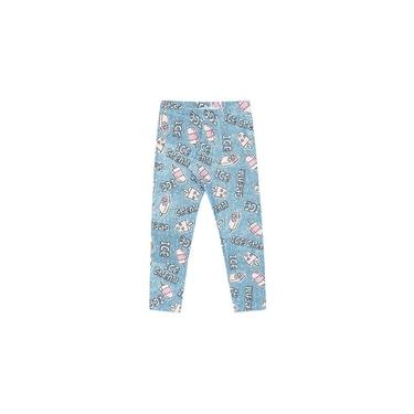 Calça Infantil Menina Legging Estampada Ice Cream Azul