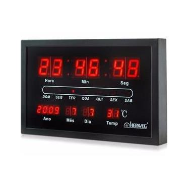 Relógio de Parede Digital Herweg 6289