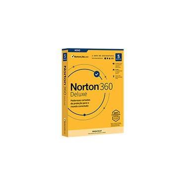 Norton Security 360 Deluxe 5 dispositivos 1 ano NortonLifeLock CX 1 UN