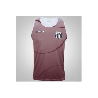 Camiseta Regata do Santos 2017 Kappa Dalmo - Masculina - VINHO Kappa 3db46acb5f10c