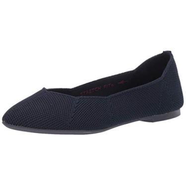 Skechers Sapatilha feminina de balé, Azul marino, 7.5