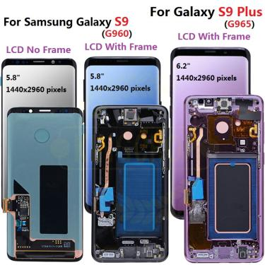 Original para samsung s9 lcd s9 mais display touch screen digitador assembléia para samsung galaxy