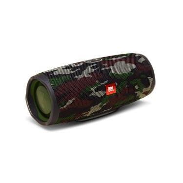 Caixa de Som Bluetooth JBL Charge 4 Squad à Prova d´água, carregador para celular