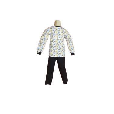 Pijama de Malha Flanelada Estampado - Relógio