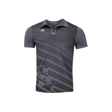 f235d5928 Camisa Polo Kappa Diagonale - Masculina - CINZA ESCURO Kappa