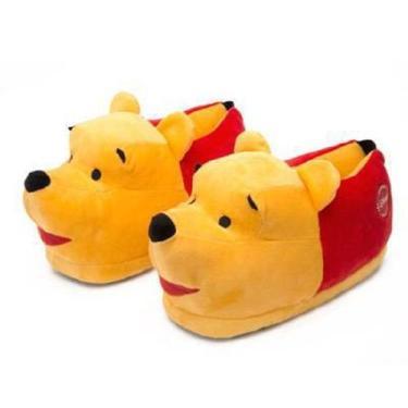 Pantufa 3D Pooh Sola De Borracha Ricsen 28-30
