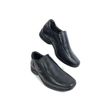 Sapato Jota Pe 3d Vision Executivo Couro Preto Air Bag Masculino