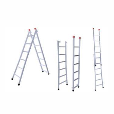 Imagem de Escada Extensiva 3 em 1 Zincada Ferro 6x10 Degraus 3m 120kg nv202