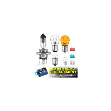 Imagem de 8 pcs Kit de substituição de lâmpada de emergência e fusível de carro conjunto H4 S25 G18 Universal
